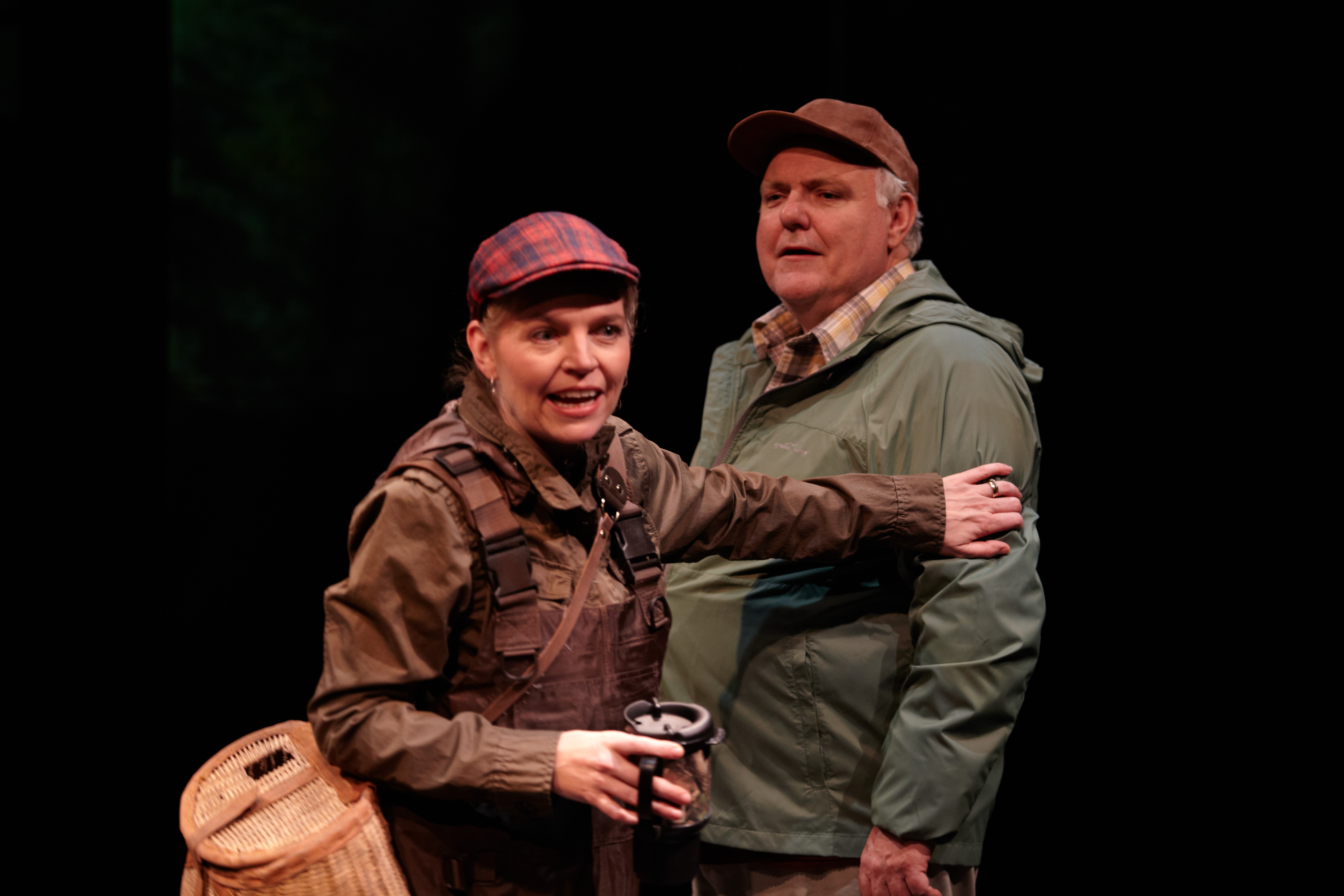 John B. Lowe as Ernie Ryan with Sharon Bajer in Rick Chafe's The Secret Mask at PTE