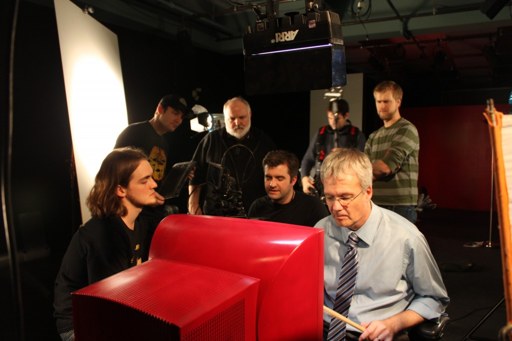 The Cast and Crew of W(or)K at work.